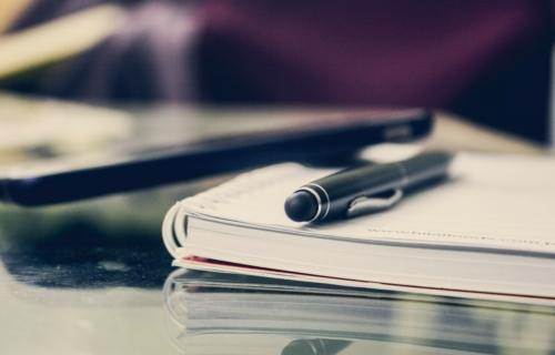 Pen-op-notitieblok