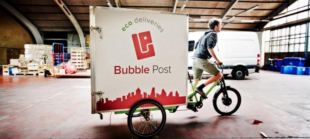 bubble-post-fiets