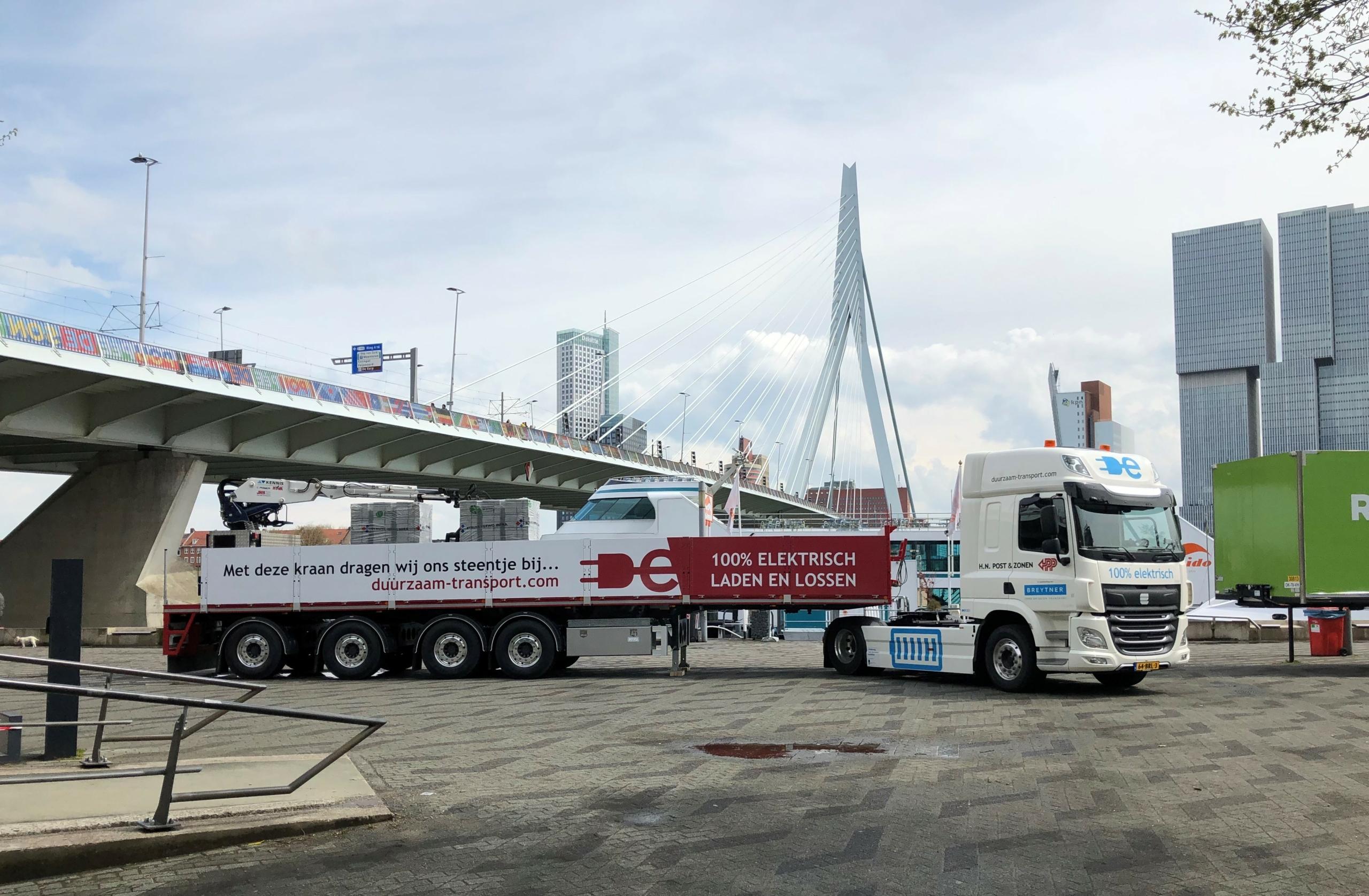 elektrische-vrachtwagen-voor-erasmusbrug-rotterdam