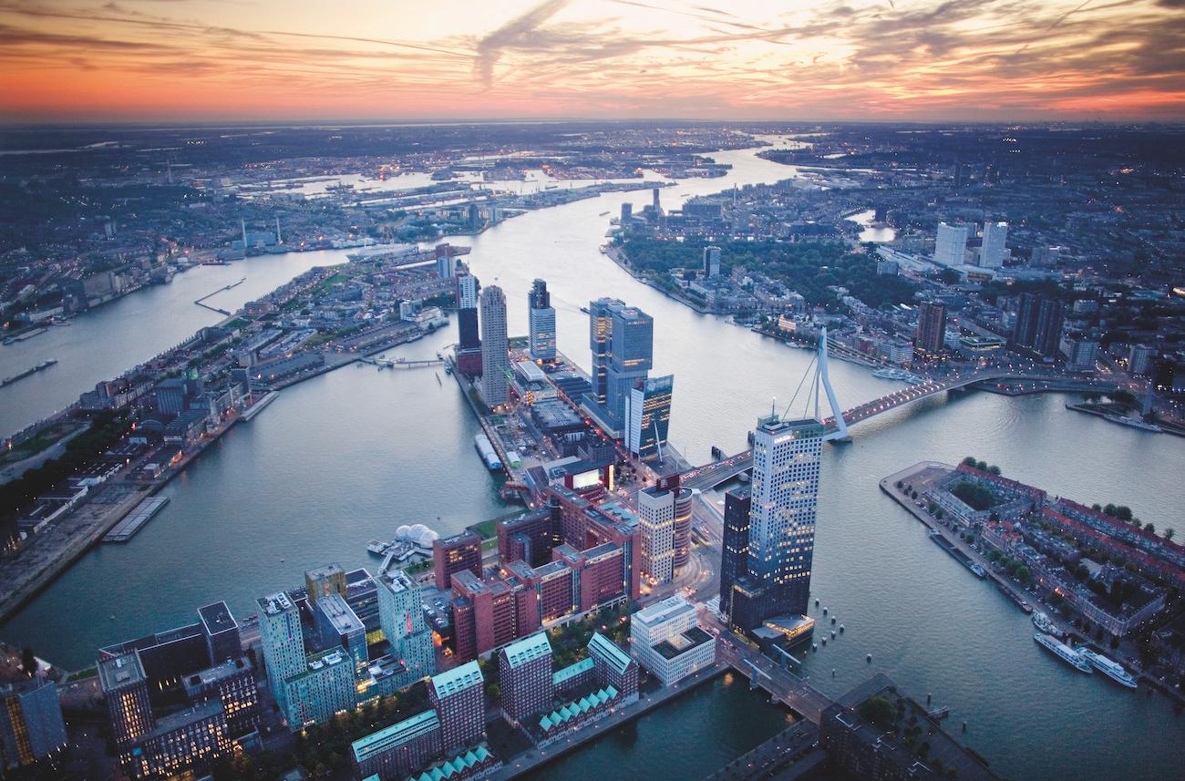 Rotterdam-luchtfoto